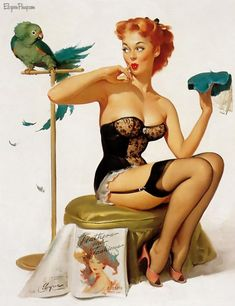 #Pin-up Paintings by Gil Elvgren