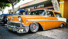 Orange & White Chevy Nomad Wagon