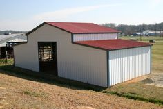 metal utility barn - low cost utility barn - farm utility barn - call for a quote Steel Barns, Steel Fabrication, Iron Steel, Building Systems, Construction Design, Steel Buildings, Cover Design, Shed, Outdoor Structures