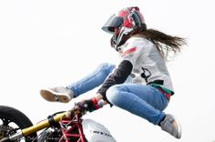 Sarah Lezito - Stunt Girl <3 _ <3   Stuntrider is staying cool this summer with the Tornado ladies jacket.