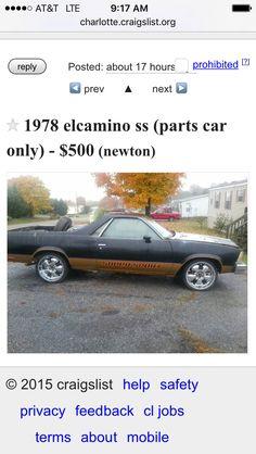 El Camino SS | Automobiles | Cool cars, Automobile, Vehicles