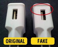 6 Tips to Help You Recognize Fake Gadgets - - 6 Tips to Help You Recognize Fake Gadgets creative thinkers Now I will always pay attention to these details. Simple Life Hacks, Useful Life Hacks, Technology Gadgets, Tech Gadgets, Mobile Gadgets, Android Hacks, Tech Hacks, Phone Hacks, Portable