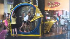 Human Hamster Wheel at Science Museum in St Louis MO