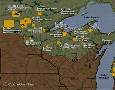 Ojibwe: Nation Reservation Map