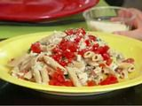 Guy Cooks With Kids: E. and Guy's Pasta recipe from Guy Fieri via Food Network Healthy Cooking, Healthy Eating, Kids Pasta, Chicken Broccoli Cheese, Sausage Pasta Recipes, Great Recipes, Favorite Recipes, Lotsa Pasta, Veggie Pasta