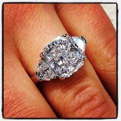 Holy Cow! 5.17ct radiant cut Diamond with half moons. I definitely do!