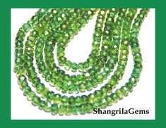 """AAA GREEN APATITE faceted beads 14"""" line 3mm - 3.5mm  NATURAL APATITE GEMSTONE BEADS, GEMSTONE CARVING FROM GEMROCKAUCTIONS"""