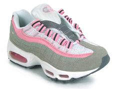 newest 4ef0f 7f42c Chaussures Nike Air Max 95 Blanc  Rose  Gris -   Nike Chaussure Pas Cher, Nike Blazer and Timerland
