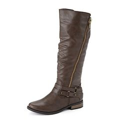 """Rampage® """"Idella"""" Fashion Riding Boots at www.herbergers.com"""