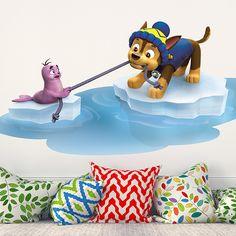 Vinilos Infantiles: Patrulla Canina - Chase rescata a una foca. Habitación infantil #Patrulla #Canina #infantil #deco #decoración #vinilo #pared #Chase #foca #TeleAdhesivo