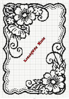 Crochet Lace Edging, Crochet Square Patterns, Doily Patterns, Crochet Doilies, Loom Patterns, Cross Stitch Borders, Cross Stitch Flowers, Cross Stitch Patterns, Cross Stitches