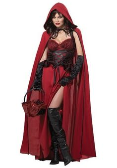 """Plus Size Dark Red Riding Hood  Nicest """"Red Riding Hood"""" costume EVER!"""