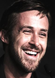 Ryan Gosling smiling perfectly.