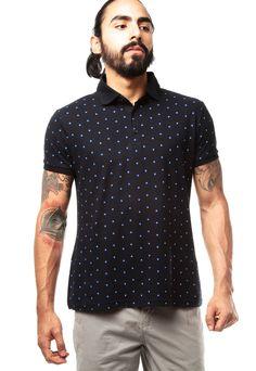 8736bf804 Camiseta Polo Azul Oscuro Koaj