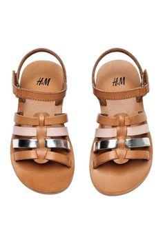 Leather sandals - Light brown - Kids   H&M CA 1