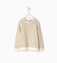 Shiny sweatshirt-SWEATSHIRTS-GIRL   4-14 years-KIDS   ZARA United States