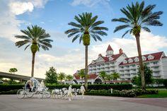 Cinderella's Coach passing by Disney's Grand Floridian Resort & Spa. Photo: Stephanie, Disney Fine Art Photography