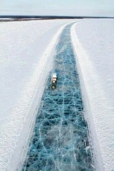 Ice highway, Deadhorse Alaska! Only way in/out of Deadhorse.