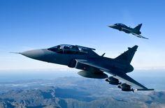 South African Air Force Saab Gripens. Military Helicopter, Military Aircraft, Saab Jas 39 Gripen, South African Air Force, Post War Era, New Aircraft, Aircraft Carrier, War Machine, Vietnam War