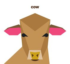 Currently browsing 50 Animals Illustrations Drew with Simple Shapes for your design inspiration Cow Illustration, Flat Design Illustration, Design Illustrations, Cow Drawing, Abstract Geometric Art, Animal Graphic, Shape Art, Barn Quilts, Pattern Art