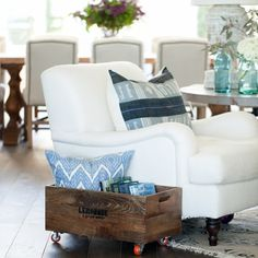 Beach House White Upholstered Chairs