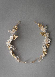 DITA | floral bridal halo