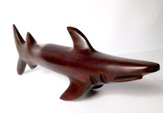 NOT Damien Hirst! Mid 20th Century Minimalist Wooden Shark Carved Sculpture. Rosewood Ironwood Modernist by Stall69UK on Etsy