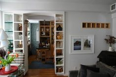 Open Shelving Room Divider Design Ideas, Pictures, Remodel and Decor