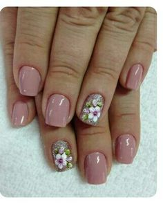 Spring Nails - 46 Best Spring Nails for 2018 - Hashtag Nail Art Pedicure Designs, Ombre Nail Designs, Nail Designs Spring, Nail Art Designs, Pedicure Ideas, Nailart, Flower Nails, Easy Nail Art, Manicure And Pedicure