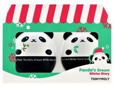 TONYMOLY coffret panda duo creme hydratante mains et masque nuit