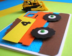 Dump Truck Birthday Invitation for Construction Theme Birthday Party