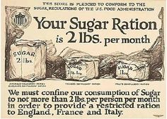 Sugar rations, WWI - America