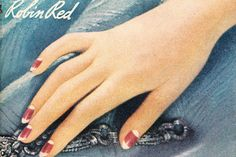A timelessly pretty double moon style manicure from pages of a 1936 copy of Cosmo magazine.