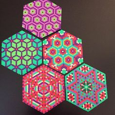 Coasters hama beads by petitcoquette_ More