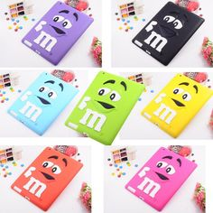 iPad mini 3D M&M Lovely Pattern Soft Silicon Case Cover, also for iPad 2/3/4