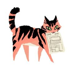 A handy article, (just in time for tax season), on Filing Taxes for Freelancers, Kali Ciesemier. Too bad it& not the Canadian edition. Cute Illustration, Character Illustration, Graphic Design Illustration, Fantasy Illustration, Digital Illustration, Photo Chat, Cat Drawing, Cat Love, Crazy Cats