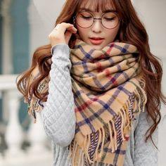 http://www.buyhathats.com/khaki-plaid-scarf-women-winter-shawl.html