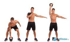 Упражнения с гирей для начинающих