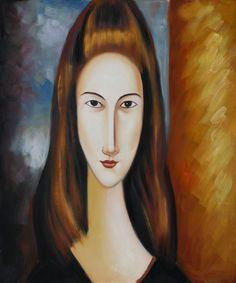 Portrait of Jeanne Hebuterne - Amedeo Modigliani