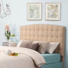 Dorel Living Torino Tufted Microfiber Headboard, Multiple Colors, Multiple Sizes - Walmart.com