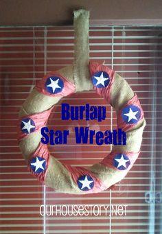 Our House Story: Burlap Star Wreath