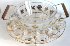 VIntage Punch Bowl. Midcentury Starlyte Punch Bowl by greenbeing, $165.00