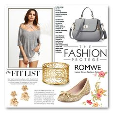 """""""Grey T- shirt"""" by maja9888 ❤ liked on Polyvore featuring Kate Spade and Oscar de la Renta"""