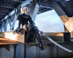 2B from Nier Automata Cosplayer Fenix Fatalist cosplay Photographer @alexbootsman #nierautomata #cosplay #costume