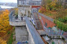 WWII Flak Tower  Flak Tower in Humboldthain Park, Berlin, Germany