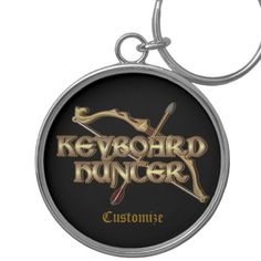 Shop Keyboard Hunter MMORPG Key Chain created by BlueRose_Design. Bow Games, Charm Rings, Pvp, Custom Buttons, Key Chain, Keyboard, Colorful Backgrounds, Cool Designs
