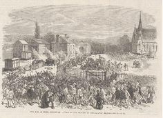 Depiction of the Mold Riot of 1869