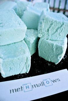 http://geekchic-hq.com/ Methmallows - blue bubblegum flavour marshmallows - home made