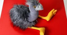 Grey Emu - Native Au - Grey Emu - Native Australian Bird Furry Soft Toy Stuffed Animal Plush Toy by andreavida on Etsy www.etsy.com/... --- #Theaterkompass #Theater #Theatre #Puppen #Marionette #Handpuppen #Stockpuppen #Puppenspieler #Puppenspiel