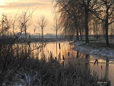 #zonsopkomst #sunrise #winter #Bolsward #Friesland